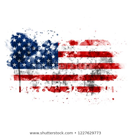 American Patriot Holding American Flag Drawing Stock photo © patrimonio