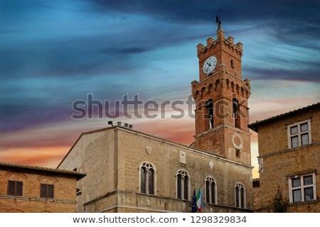 bell tower in pienza italy stock photo © borisb17