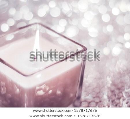 Pembe aromatik mum Noel yeni Stok fotoğraf © Anneleven