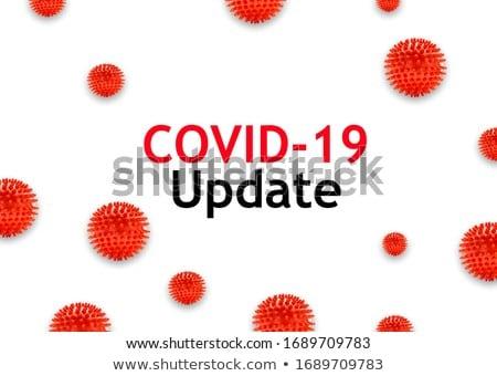 Koronawirus wiadomości zdrowia nauki komórek awaryjne Zdjęcia stock © SArts
