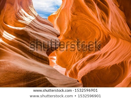 Antelopes Canyon near page, the world famoust slot canyon in the Stock photo © meinzahn