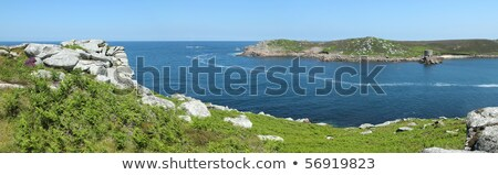Panoramic view of Tresco from Bryher, Isles of Scilly, Cornwall UK. Stock photo © latent