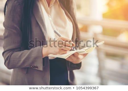 tarefas · retrato · sério · patrão · negócio - foto stock © ra2studio