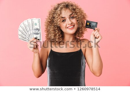 Fotó európai fürtös nő 20-as évek visel Stock fotó © deandrobot