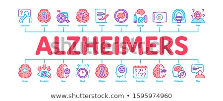 Alzheimers Disease Minimal Infographic Banner Vector Stock photo © pikepicture