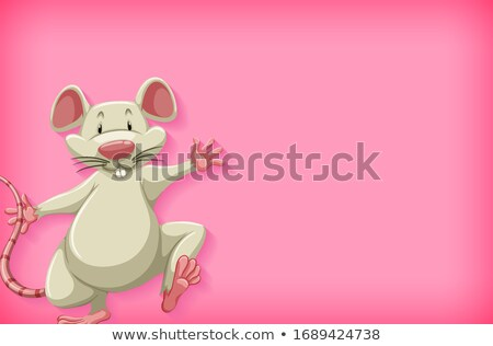 Background template with plain color and white mouse Stock photo © bluering