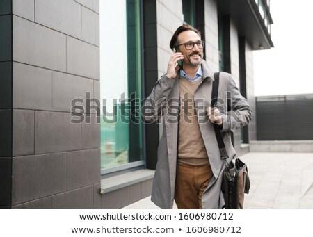画像 あごひげを生やした 成人 男 ジャケット 笑みを浮かべて ストックフォト © deandrobot