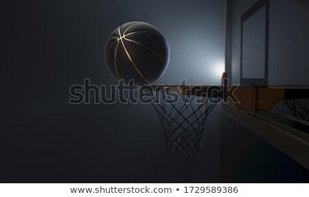 バスケットボール バランス アクション ショット 黒 金 ストックフォト © albund