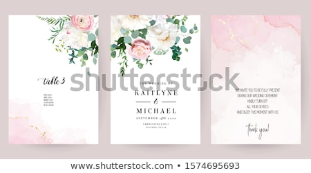Bouquet of peony flowers on luxury marble background, wedding flatlay and event branding Stock photo © Anneleven