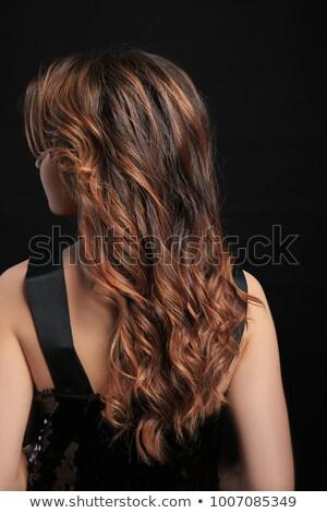 Beauty fashion. Stylish woman with brown hair posing Stock photo © gromovataya