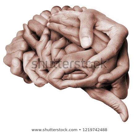 Trabalhando cérebro e empresário homens sucesso Foto stock © silent47