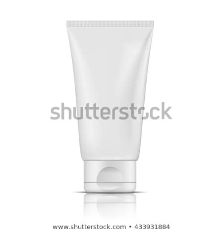 Fehér cső vágási körvonal áll kozmetika izolált Stock fotó © winterling
