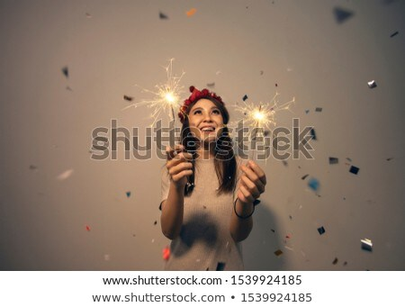 smiley sparkler Stock photo © Paha_L
