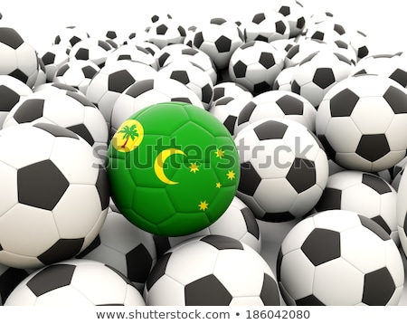 Flag of cocos islands with football in front of it Stock photo © MikhailMishchenko