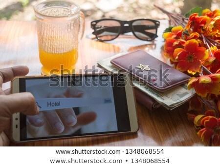 Işkadını cam arayüz beyaz kadın Stok fotoğraf © wavebreak_media