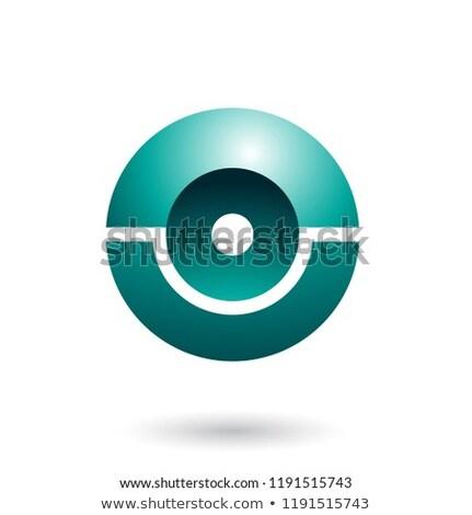 Persian Green Futuristic Shiny Sphere Vector Illustration Stock photo © cidepix