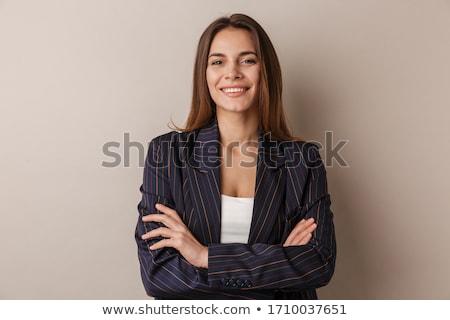 肖像 · かなり · 小さな · 女性実業家 · 孤立した - ストックフォト © deandrobot