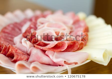 beautiful sliced food arrangement stock photo © fanfo