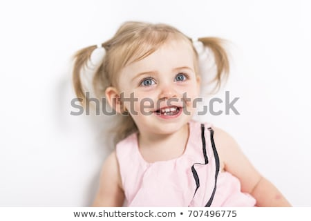 Portrait of a 2 year old girl isolated on white background Stock photo © Lopolo