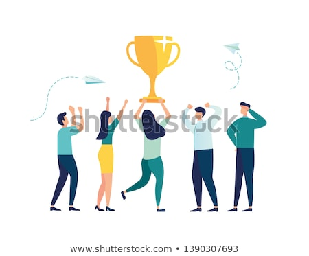 Winners and Award, Leadership Qualities Vector Stock photo © robuart