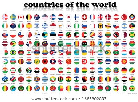 Bandiere paesi bianco mondo viaggio africa Foto d'archivio © butenkow