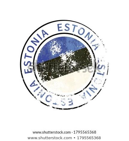 Észtország felirat klasszikus grunge lenyomat zászló Stock fotó © evgeny89