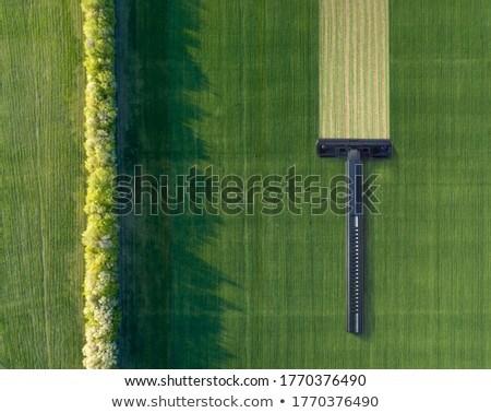 緑 フィールド 使い捨て マシン ストックフォト © artjazz
