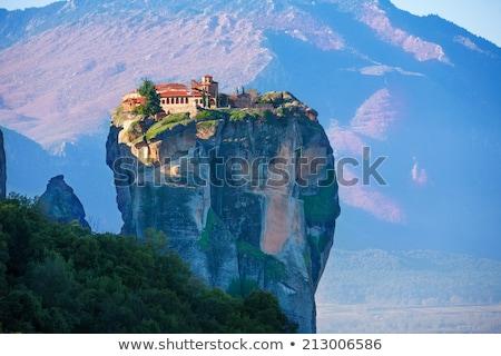 Monastère Grèce vue Rock paysage Photo stock © borisb17