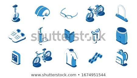 Shoe Repair Equipment Isometric Icons Set Vector Stock photo © pikepicture