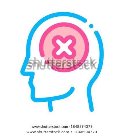 Podpisania człowiek sylwetka umysł wektora izometryczny Zdjęcia stock © pikepicture