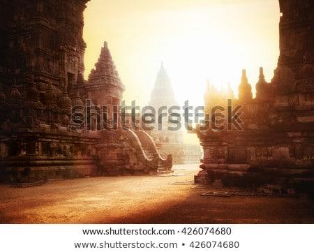 budist · tapınak · küçük · ada · gökyüzü · su - stok fotoğraf © aremafoto