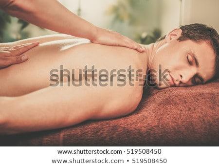 Mann · Schulter · Massage · gut · aussehend · junger · Mann · Magen - stock foto © photography33
