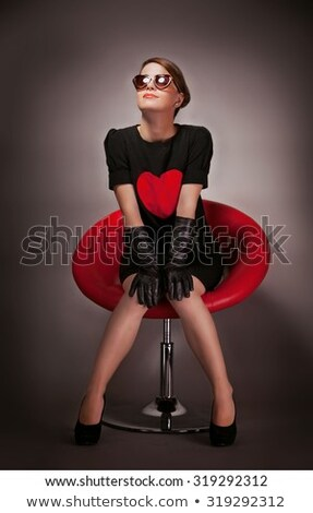 Sexy сидят Председатель женщину модель Сток-фото © bigjohn36
