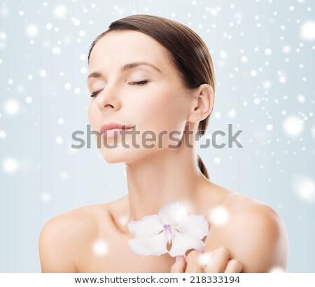 女性 花 健康 美 皮膚 ストックフォト © dolgachov