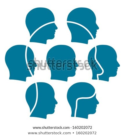 Group of male heads more than the sum of its parts Stock photo © adrian_n