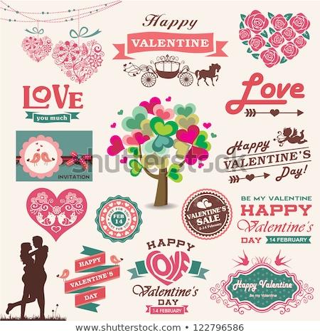 ロマンチックな デザイン ラベル アイコン 要素 飾り ストックフォト © elenapro
