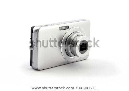 Photographie à la main avec un appareil photo numérique isolé sur blanc Photo stock © caimacanul