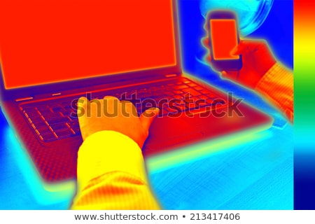 Thermovision image showing heat in the office Stock photo © smuki