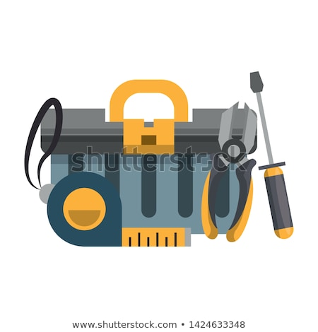 Stock photo: Wooden box with construction tools