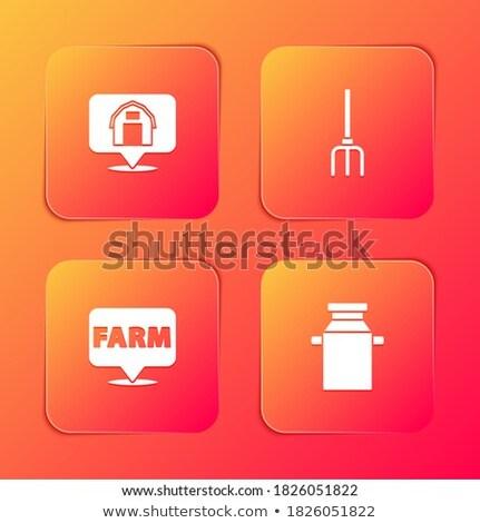 Casa naranja vector botón icono Foto stock © rizwanali3d