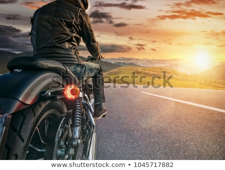 rider at sunset Stock photo © adrenalina