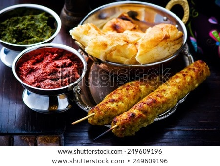 luleh kebab traditional east dish stock photo © zoryanchik