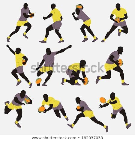 Rugby jugador pelota blanco deporte Foto stock © wavebreak_media