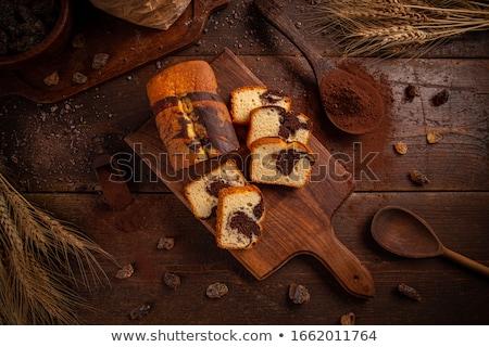 Stockfoto: Marmer · pond · cake · chocolade · ontbijt