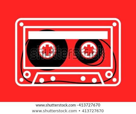 кассету лента красный белый вектора свободный Сток-фото © adrian_n