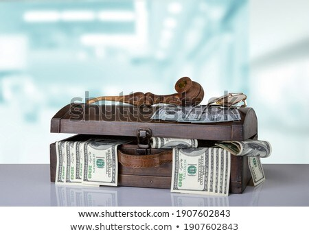 Pijp tabak oude geld merkt houten tafel Stockfoto © superelaks