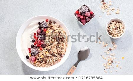 saudável · café · da · manhã · tigela · saboroso · chocolate · banana - foto stock © YuliyaGontar