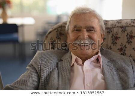 Vue heureux supérieurs homme regarder Photo stock © wavebreak_media