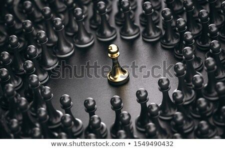 Outstanding Person Standing Out From The Crowd and catching audience attention Stock photo © olivier_le_moal