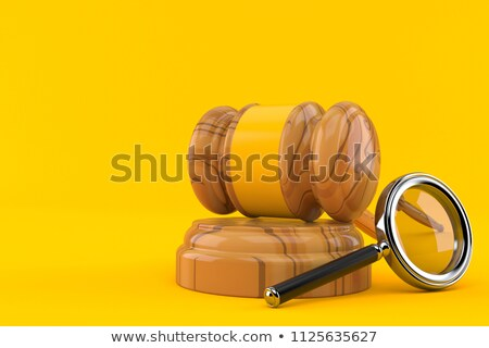 Magnifying glass and judge hammer 3D Stock photo © djmilic